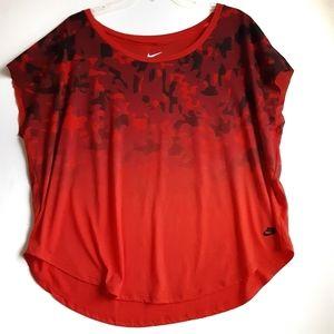 Nike The Athletic Cut Women's Tee Red Camo Sz Xl